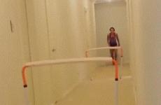 Aussie hurdler Michelle Jenneke invents new sport of hallway hurdles