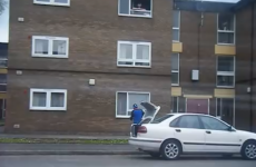 Heroic pizza delivery guy throws his cargo through second-floor flat window