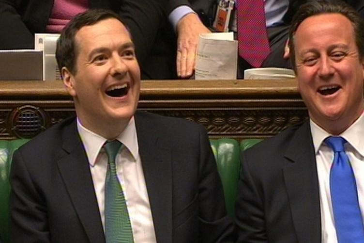 British chancellor George Osborne and Prime Minister David Cameron (File photo)