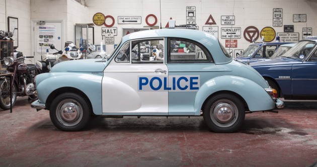 This old Morris Minor police car will be driving through London today