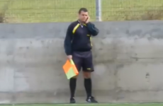 VIDEO: Hero linesman takes mid-match phonecall