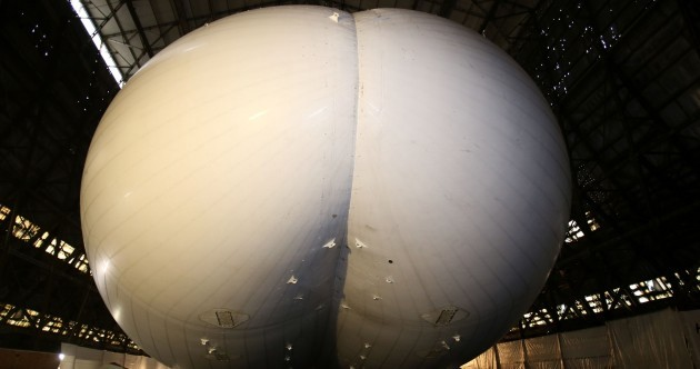The world's largest aircraft looks like…