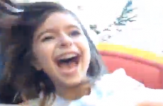 This little girl's first roller coaster ride is hilariously emotional