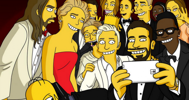 The Simpsons brilliantly recreate Ellen's Oscar selfie