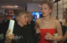 Ellen's behind the scenes Oscars video with Cumberbatch and J-Law's boobs