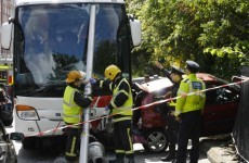 No serious injuries after three-vehicle crash on Merrion Square