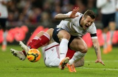 Wilshere out for six weeks with foot fracture