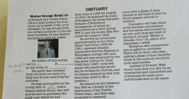 Family discover wonderful obituary grandfather wrote for himself before he died