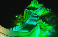 The Great Wall of China is turning green for St Patrick's Day