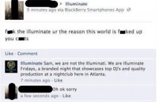 Man mistakes club night for the Illuminati, apologises for trolling
