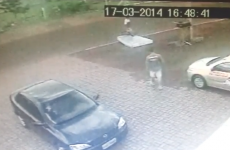 Driver knocks over passing cyclist… and leaves a mattress to cushion his fall