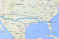 Here's what it would be like to drive across the United States in 20 minutes