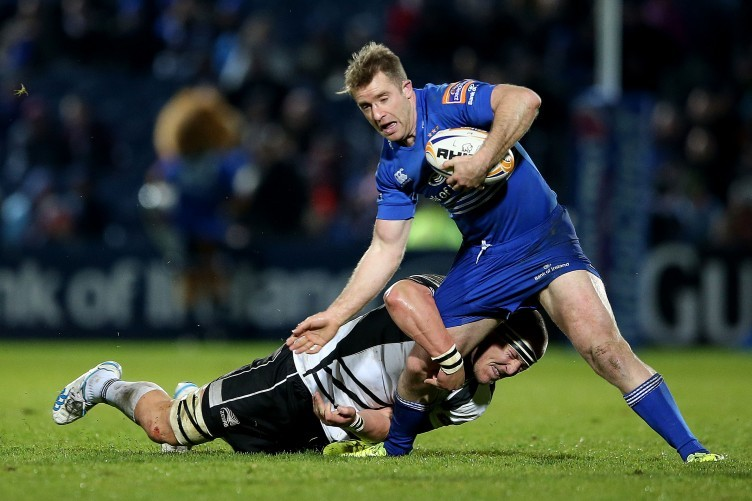 Luke Fitzgerald dived over for two Leinster tries at the RDS.
