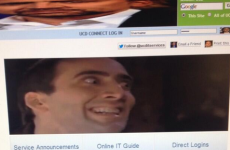 Nicolas Cage's face is mysteriously appearing on official UCD computers