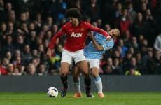Zabaleta 'bounced' into my elbow, says Fellaini