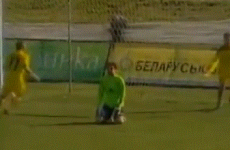 Calamitous Latvian goalkeeper has an opening day of the season to forget