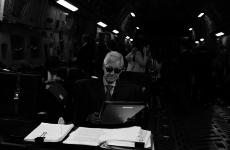 'Following my leader': Bill Clinton parodies his wife's famous meme photo