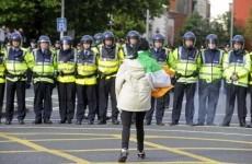 Eight men arrested over royal visit protests