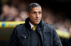 Struggling Norwich sack manager Chris Hughton