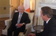 'I'm so pleased to be here': President Higgins meets David Cameron at Downing Street