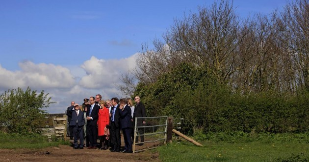 Don't worry, Michael D's not lost... The State visit party was SUPPOSED to end up on a farm