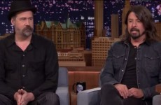 Dave Grohl and Krist Novoselic told old Nirvana stories on Jimmy Fallon last night