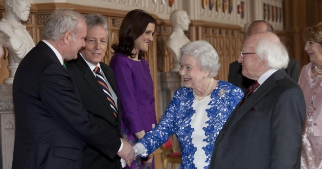 Take Two: The Queen and Martin McGuinness shake hands at Windsor