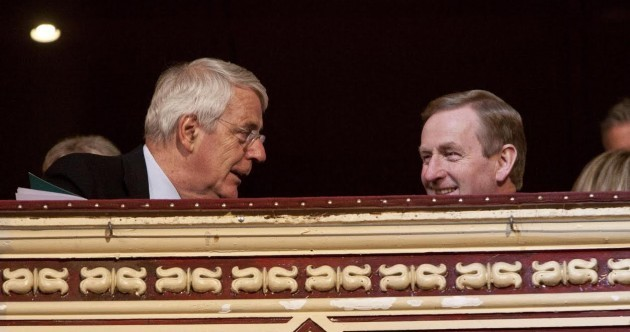 Caption competition: What's John Major saying to Enda, as they lurk on the Albert Hall balcony?