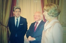 Niall Horan met President Higgins and Twitter was very confused