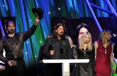 Nirvana were inducted into the Rock and Roll Hall of Fame last night