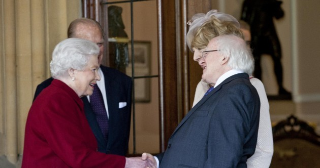 So, see you soon? President Higgins and the Queen say goodbye