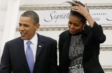 Wheels down: Obama arrives for 24-hour flying visit