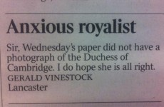 This Times reader's royal question is just perfect