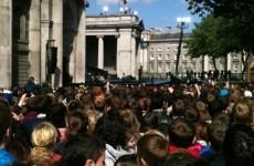 Access to College Green restricted as crowds build for Obama event