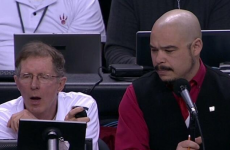 Human shot clock forced to yell out 'Horn' every 24 seconds in NBA playoff match