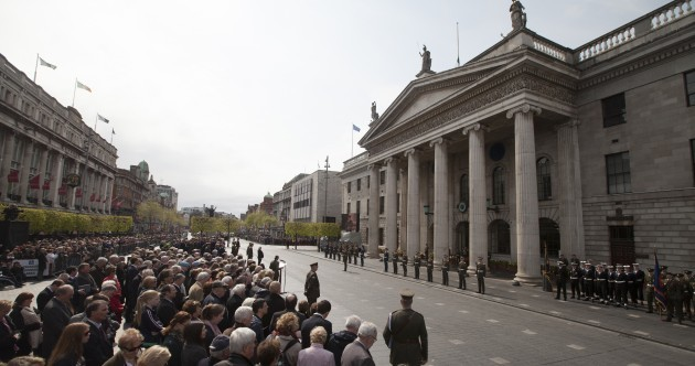 Pics: President Higgins and Taoiseach among thousands who gather to remember Easter Rising