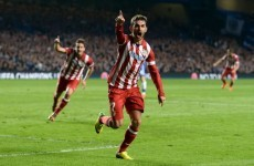 Adrian Lopez equalises for Atletico at the Bridge
