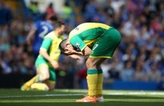 Norwich were denied a stonewall penalty against Chelsea today