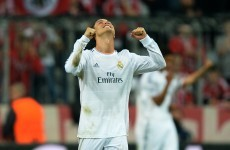 Cristiano Ronaldo scores with a simply outrageous back-heel flick in injury time