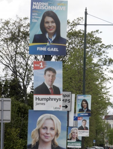 The truth behind Brian Hayes's white teeth and whether political parties Photoshop their posters