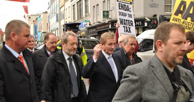 Pics: Water charge protesters joined the Taoiseach's Limerick canvass