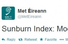 It must be summer. Met Éireann says sunburn index today is moderate