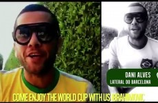 Dani Alves stars in video campaign urging Ibra to come to Brazil