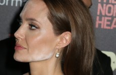What was happening with Angelina Jolie's makeup the other night?