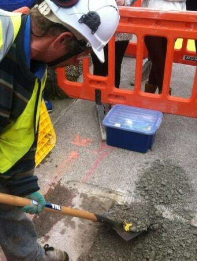 Water meters have been REMOVED from the pavement in Cork