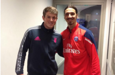 Irish out-half Peter Lydon tries to recruit Zlatan Ibrahimovic as a second row