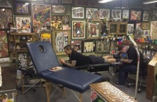 Daniel Agger stops off in Limerick to get his latest tattoo