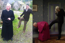 Actual Irish trainee priest kicks Bishop Brennan up the arse