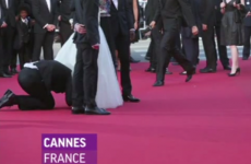 Watch: 'Prankster' dives under America Ferrera's skirt on Cannes red carpet