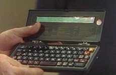 Amazing texting technology showcased on the Late Late in 1984